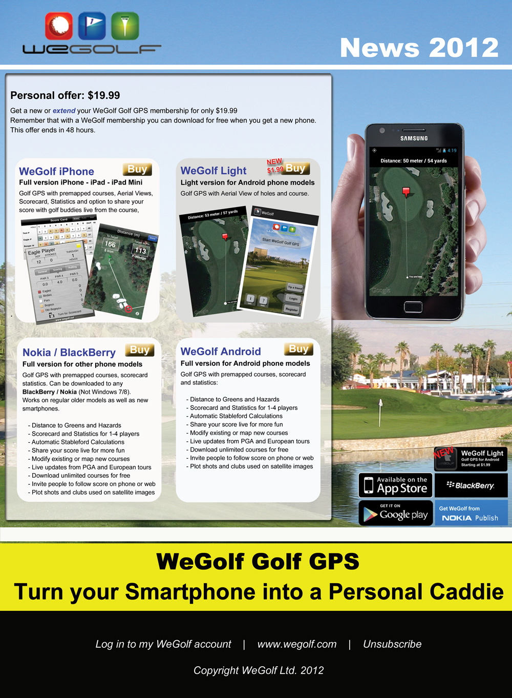 WeGolf Special offer